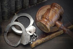 Gavel with handcuffs